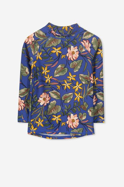Hamilton Long Sleeve Rash Vest, GALAXY TROPICAL FLORAL