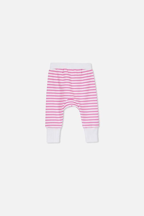 Charlie Trackpants, WHITE/HOT FUCHSIA STRIPE