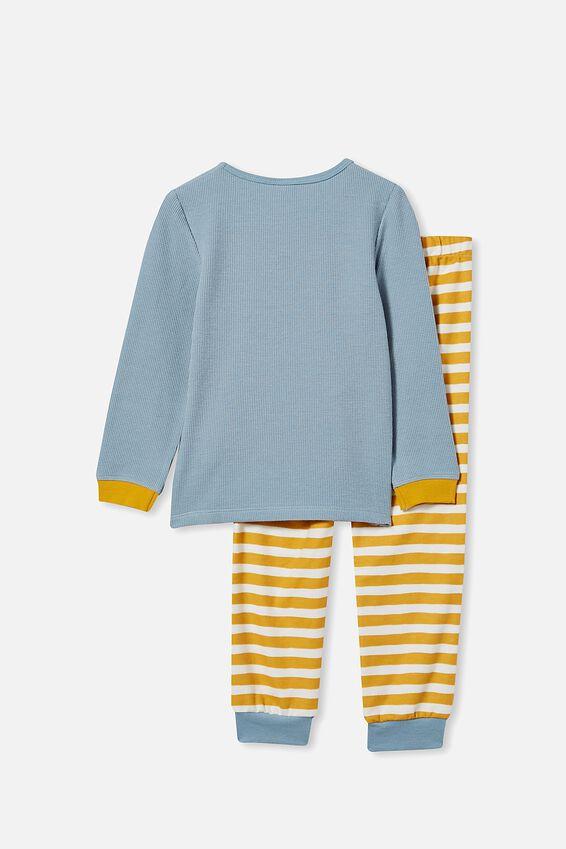 Noah Long Sleeve Pyjama Set, BUZZ OFF/RAIN CLOUD