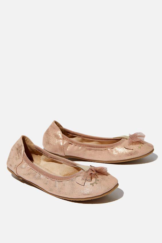 Primo Ballet Flats, MATTE ROSE GOLD UNICORN