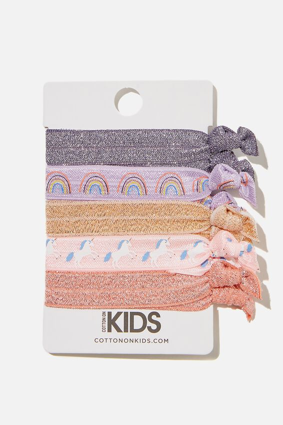 Knot Messy Hair Ties, UNICORN AND RAINBOW