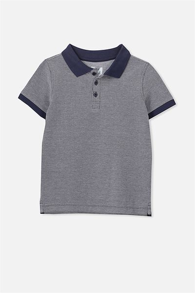 Kenny3 Polo, WASHED NAVY MARLE