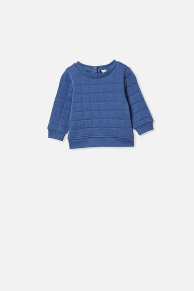 Scout Quilted Sweater, PETTY BLUE