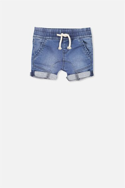 Jamie Slouch Short, MID BLUE