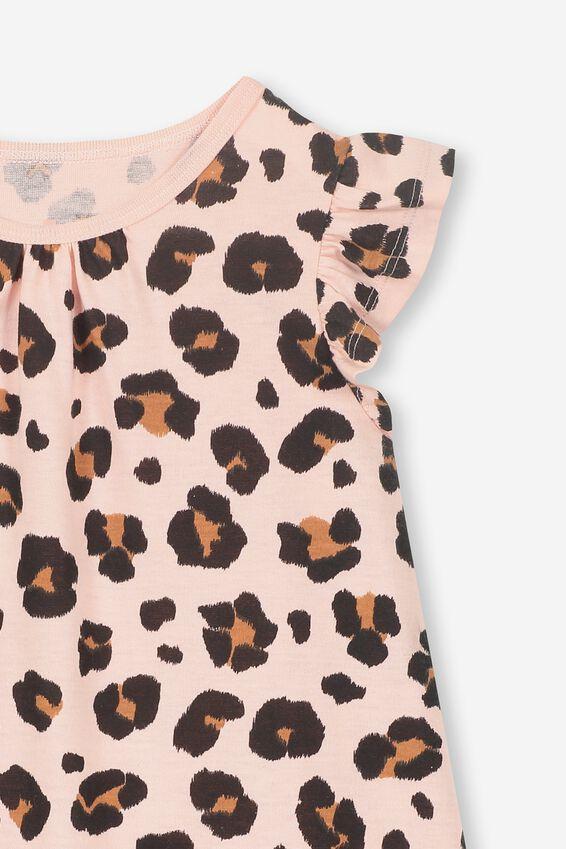 Suzie Flutter Sleeve Nightie, ANIMAL