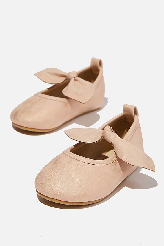 Mini Bow Ballet Flat, MATTE ROSE GOLD