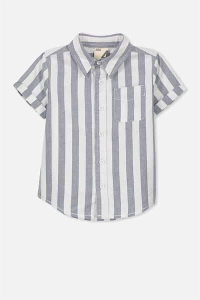Jackson Short Sleeve Shirt, VERTICAL STRIPE