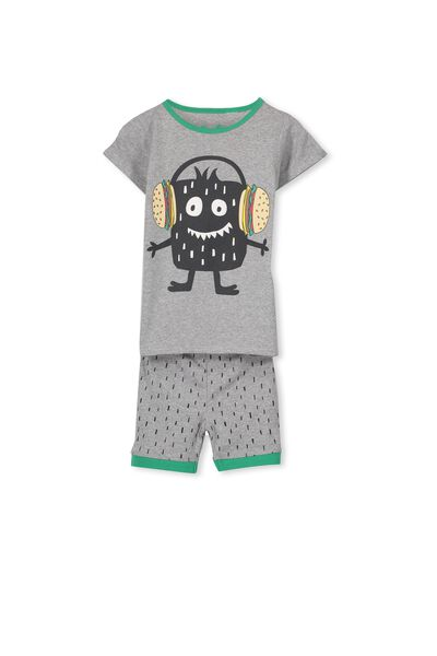 Joshua Ss Boys Pj Set, BURGER MONSTER