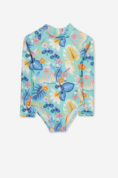 Lydia One Piece, FIJI SEA TROPICAL FLORAL