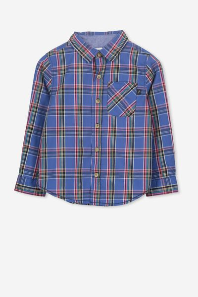 Noah Long Sleeve Shirt, MULTI CHECK