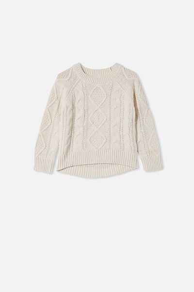Annie Cable Knit Jumper, CREAM