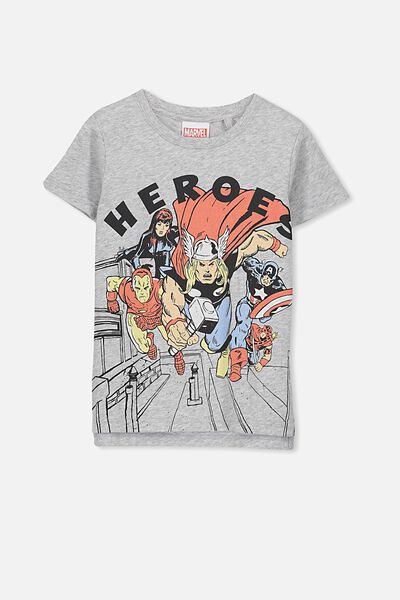 Short Sleeve License Tee, LT GREY/HEROES