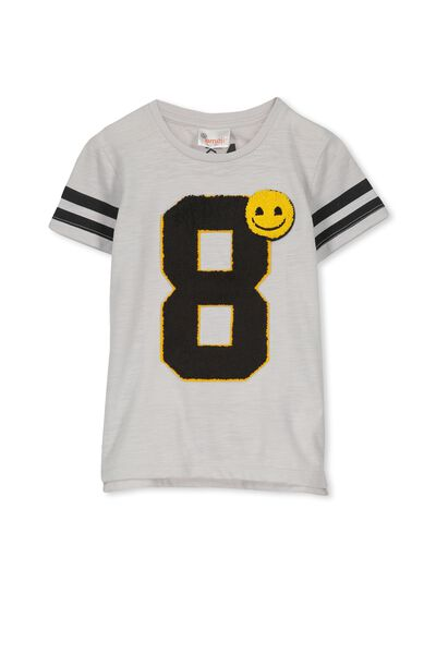 Short Sleeve License Tee, WINTER GREY SLUB/VARSITY EMOJI NEW