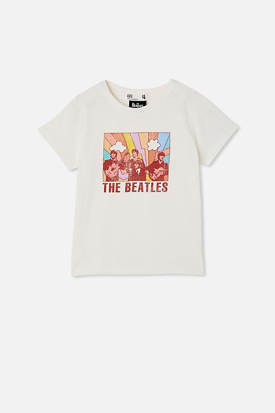License Short Sleeve Tee, LCN APP VANILLA/THE BEATLES RAINBOW