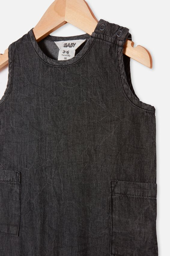 Tommy Romper, BLACK WASH