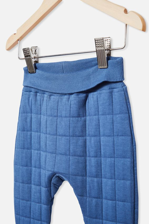 Rory Quilted Trackpant, PETTY BLUE