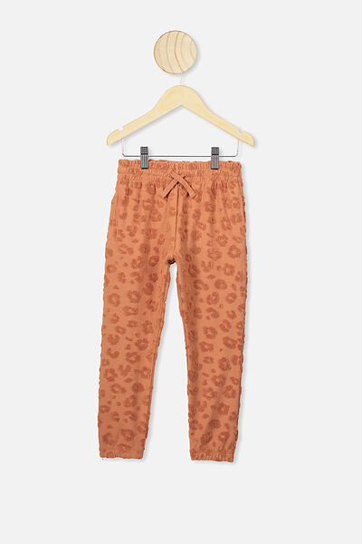 Keira Cuff Pant, AMBER BOWN/LEOPARD TEXTURE