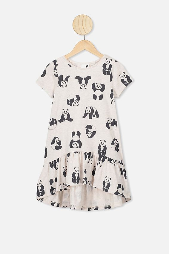 Joss Short Sleeve Dress, BLUSH MARLE/PANDAS