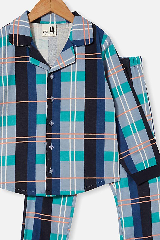 William Long Sleeve Pyjama Set, TARTAN / VINTAGE NAVY