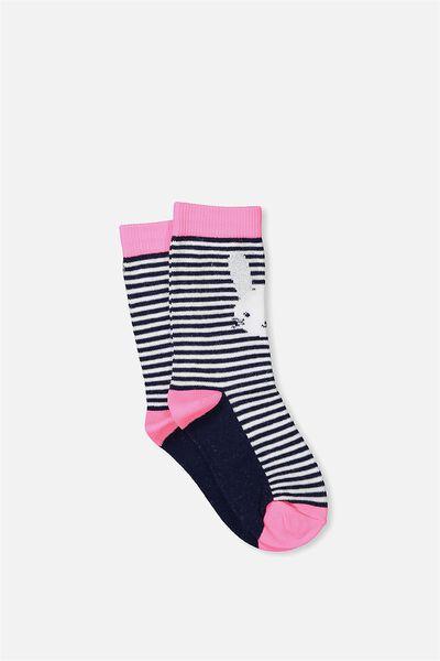 Fashion Kooky Socks, STRIPE BUNNY