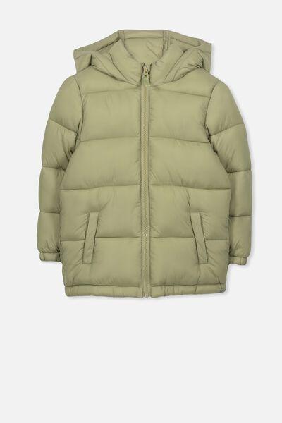 Frankie Puffer Jacket, MOSSTONE
