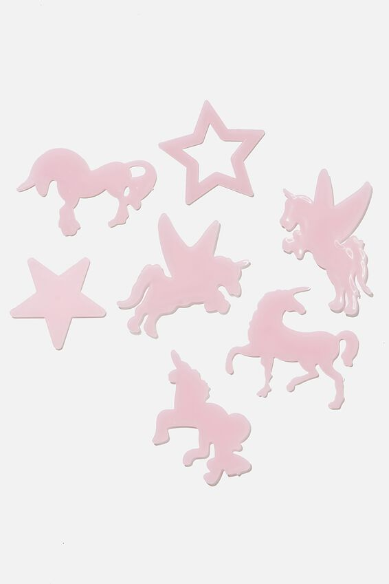Sticker Pack, GLOW IN THE DARK UNICORNS