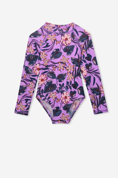 Lydia One Piece, LILAC TROPICAL FLORAL