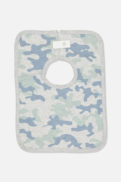 The Everyday Bib, CLOUD MARLE/STONE GREEN CAMO