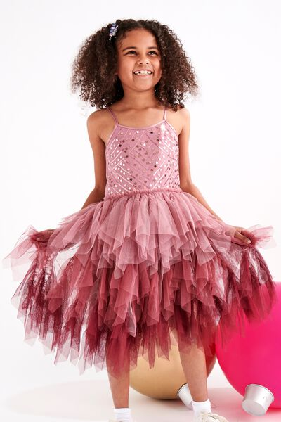 Iris Dress Up Dress, DUSTY BERRY/GRADIENT DECO