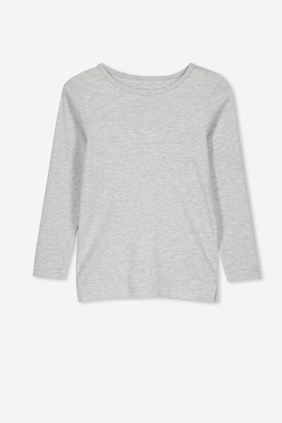 Jessie Crew Long Sleeve Tee, SUMMER GREY MARLE