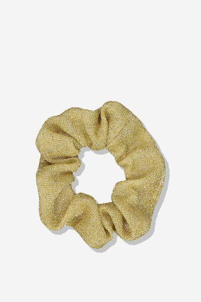 Scrunchie, GOLD/SHIMMER