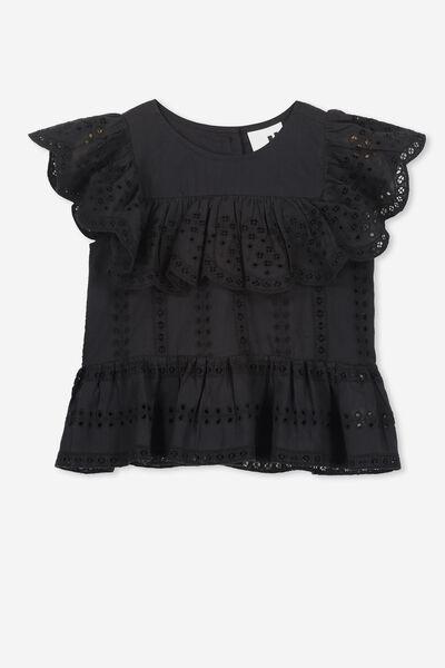 Kiko Frill Top, VINTAGE BLACK