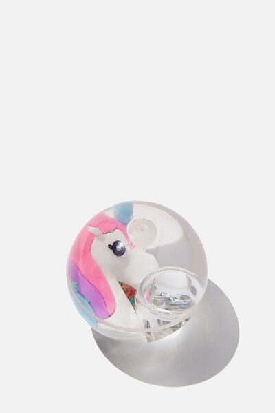 Kids Light Bouncey Ball, WHITE UNICORN