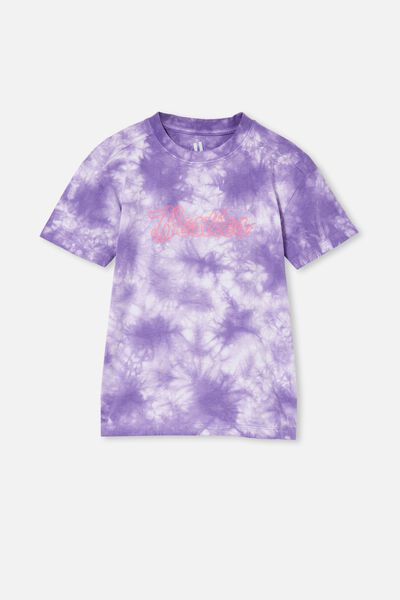 Scout Drop Shoulder Short Sleeve Tee, ULTRA VIOLET TIE DYE/BESTIES