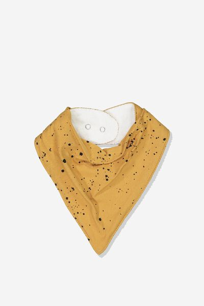 Dribble Bib, BURNT BISCUIT/SPLATTER