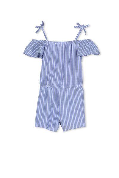 Penny Short Jumpsuit, LIGHT BLUE/VANILLA STRIPE