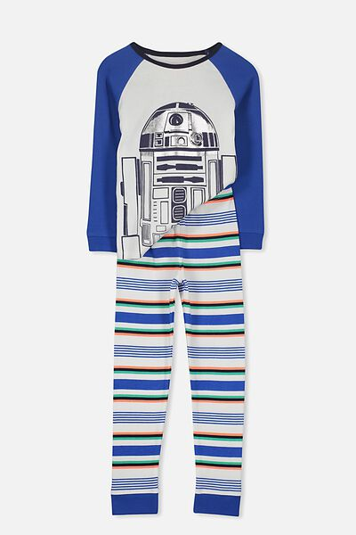Jacob Boys Long Sleeve Raglan Pyjama Set, STAR WARS R2D2