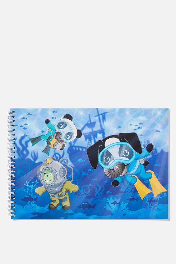Sunny Buddy A4 Sketch Book, UNDERWATER