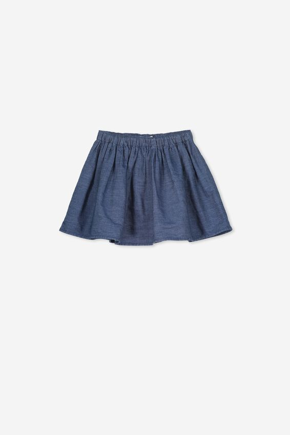 Ellie Flippy Skirt, DARK CHAMBRAY