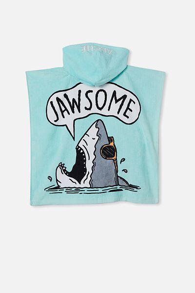 Hooded Towel -Personalised, DREAM BLUE JAWSOME
