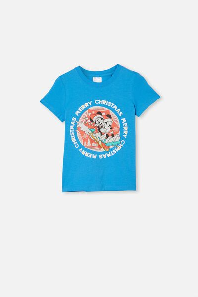 Short Sleeve License1 Tee, LCN DIS MICKEY MERRY CHRISTMAS