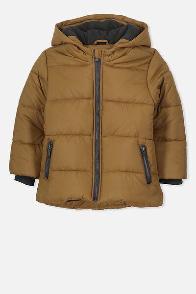 Peyton Puffer Jacket, NEW MUSTARD