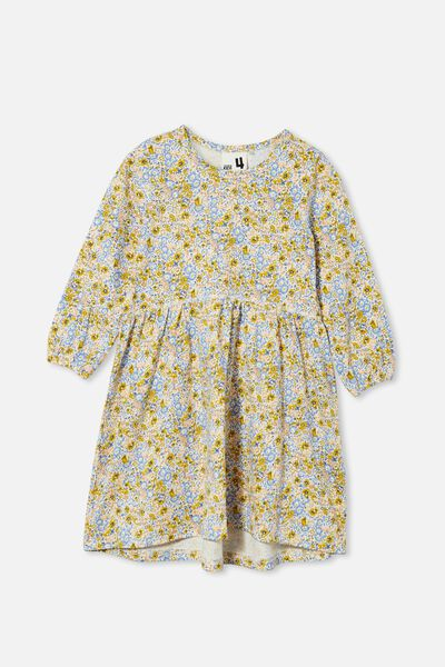 Savannah Long Sleeve Dress, HONEY GOLD/VINTAGE FLORAL