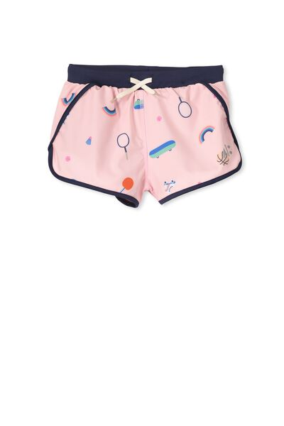 Active Print Play Short, PINK SORBET/SPORTS TIME