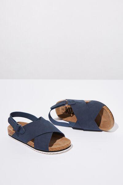 Trent Footbed Sandal, NAVY
