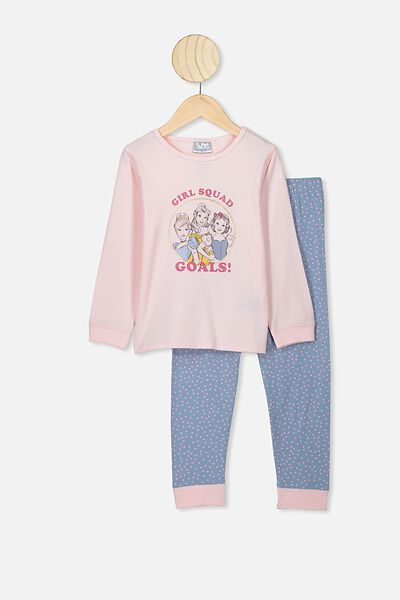 Florence Long Sleeve Pj Set, LCN DIS CRYSTAL PINK PRINCESS GIRLS SQUAD