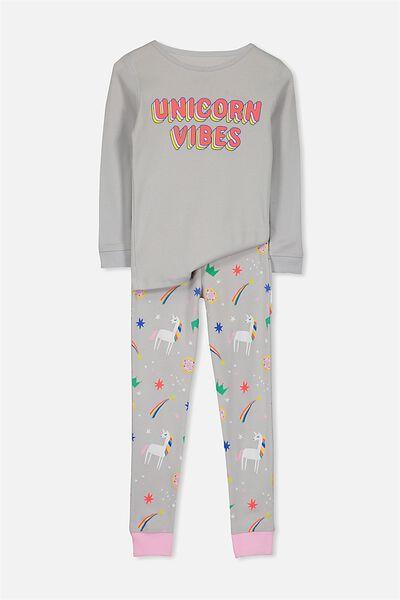 Kristen Long Sleeve Girls PJs, UNICORN VIBES
