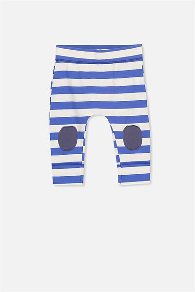 Mini Legging, DARK VANILLA/SCUBA BLUE STRIPE