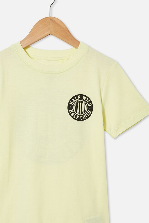 Max Skater Short Sleeve Tee, LEMONADE / HALF WILD
