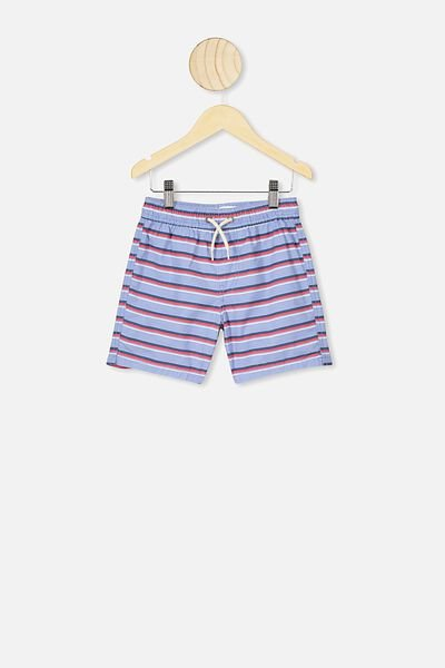 Volly Short, POWDER PUFF BLUE/STRIPE